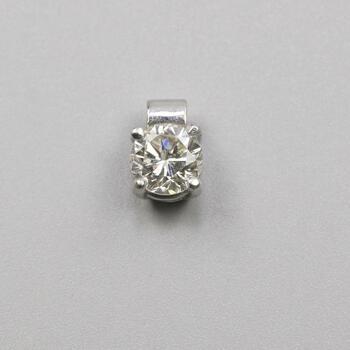 .73ct TW Diamond Platinum Solitaire Pendant