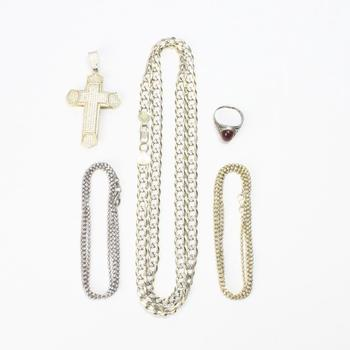 73g Silver Jewelry, 5 Pieces