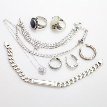 77.85g Silver Jewelry, 8 Pieces