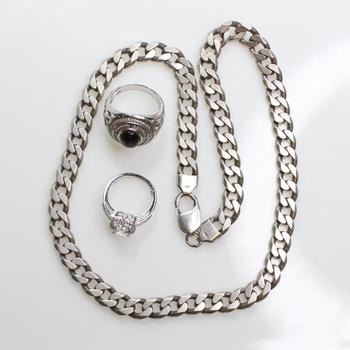78.33g Silver Jewelry, 3 Pieces