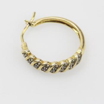 .800 Silver 2g Diamond Earring
