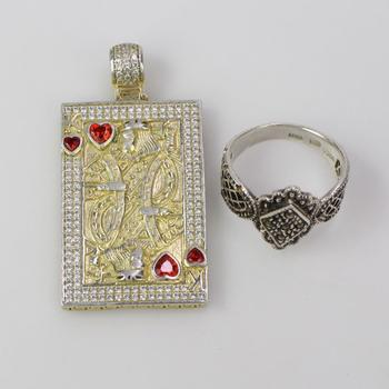 .800-.900 Silver Jewelry, 2 Pieces, 18.40g