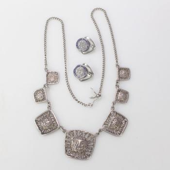 .800-.900 Silver Jewelry, 3 Pieces, 20.52g