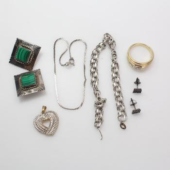 .800.900 Silver Jewelry, 8 Pieces, 41.62g