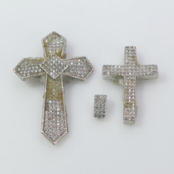 .800-.900 Silver Pendants, 3 Pieces 11.1g