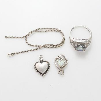 9.25g Silver Jewelry, 4 Pieces