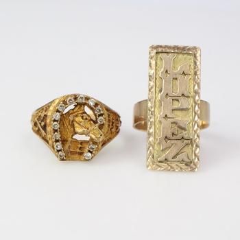 9.64g 9k Gold Jewelry, 2 Pieces