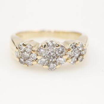 .96ct TW Diamond 14k Gold Ring
