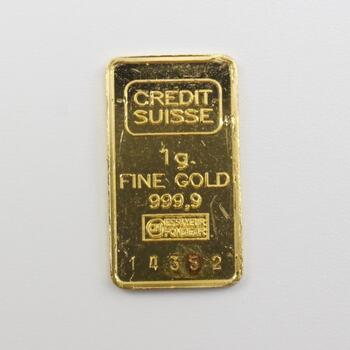 .999 Gold Credit Suisse 1g Bar