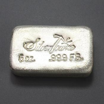 .999 Silver 5oz Silver Towne Bar