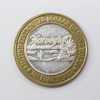 .999 Silver And Brass Harvey's Token