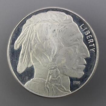 .999 Silver Buffalo 1 Troy Oz Round