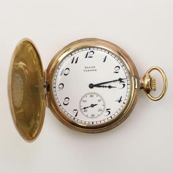 9k GF Elgin Vernon Pocket Watch