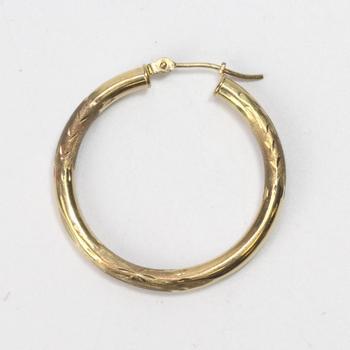 9kt Gold 2g Hoop Earring