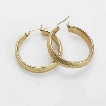 9kt Gold 5g Hoop Earrings