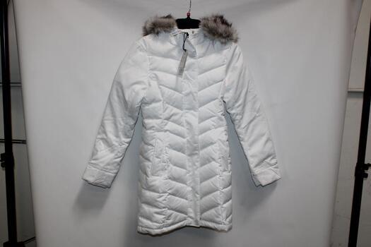 Abercrombie And Fitch White Winter Coat Size XS, Abercrombie And Fitch Nude Tank-Top Size S, Louid Garneau Orange Biker Jacket S