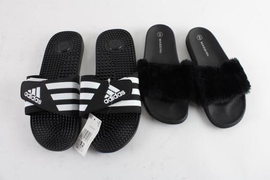 Adidas Slides And Massini Slipper Sandals, 2 Pieces