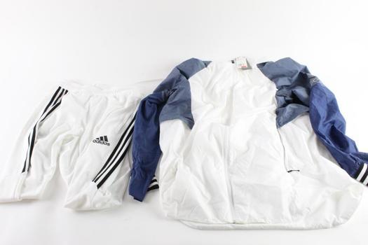 Adidas Wind Breaker Jacket Size Large And Adidas Sweatpants Size Medium, 2 Pieces
