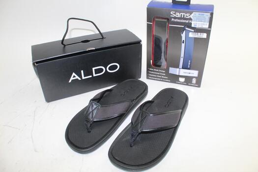 Aldo Men's Sandals Size 9 And Professional Hair Trimmer