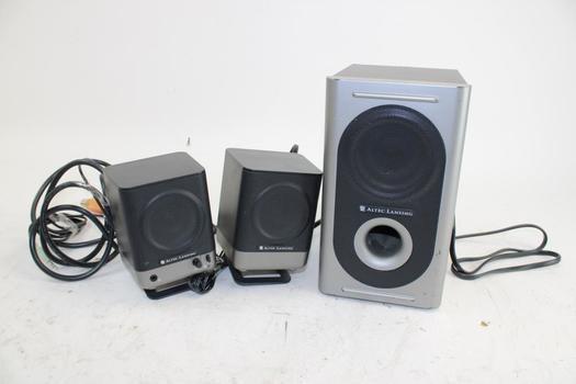 Altec Lansing Computer Speakers; 3 Pieces