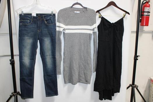 Amp Skinny Blue Jeans Size 30X30, Hollister Gray Dress Size M, Hollister Black Dress Size M