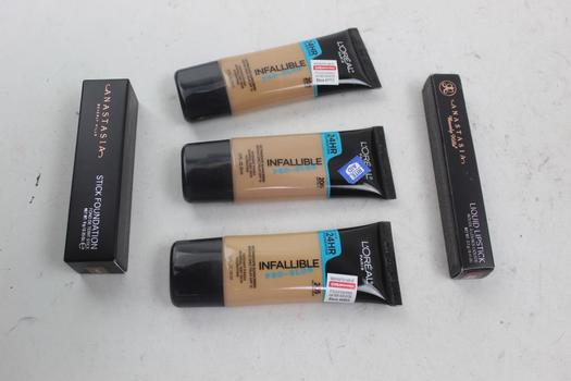 Anastasia Beverly Hills & L'oreal  Assorted Cosmetics; 5Pieces