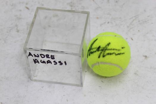 Andre Agassi Autographed Wilson Tennis Ball