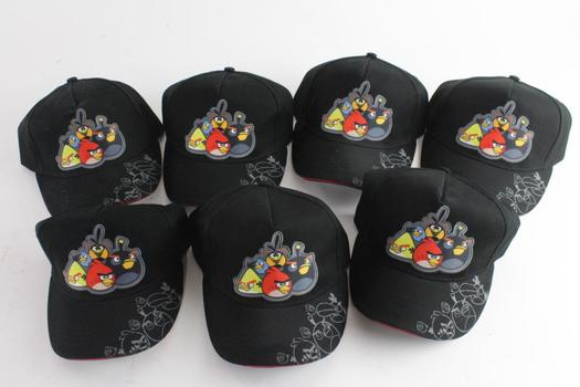 Animations Angry Bird Caps, 7 Pieces