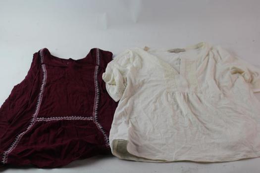 Ann Taylor Loft Shirts, M, 2 Pieces