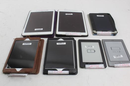 Apple, Amazon Kindle, & More Tablets; 7 Pieces