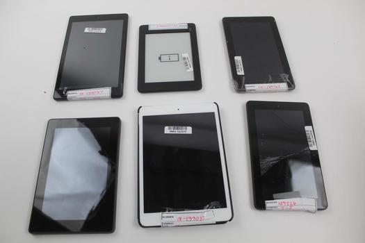 Apple & Amazon Tablets; 6 Pieces