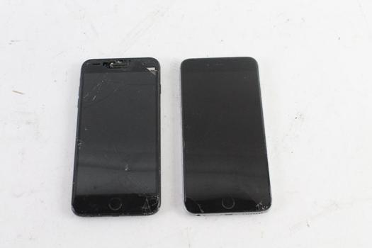 Apple Cell Phone Lot, 2 Pieces, Sold For Parts