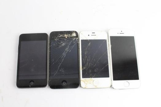 Apple Cell Phone Lot, 3 Pieces, Sold For Parts And More