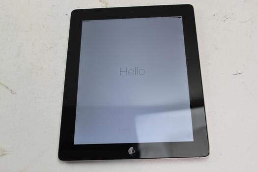 Apple IPad 4th Gen, 64GB, Unknown Carrier, Activation Locked, Sold For Parts