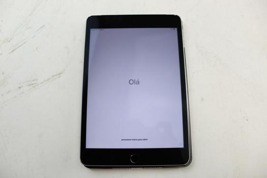 Apple IPad Mini 4, 128GB, Unknown Carrier, Activation Locked, Sold For Parts