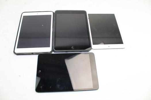 Apple Ipad Tablets; 4 Pieces