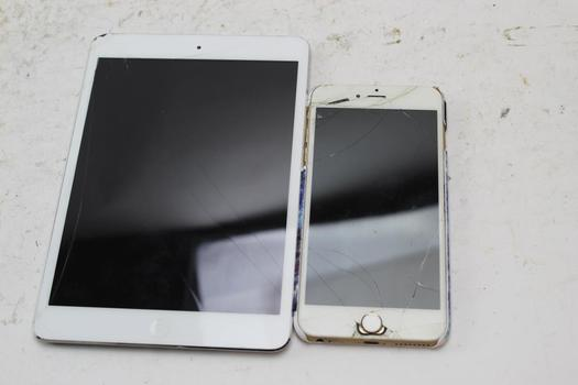 Apple Iphone And Ipad, 2 Pieces, Sold For Parts