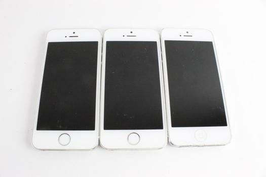 Apple IPhone Cell Phone Lot, 3 Pieces, Sold For Parts