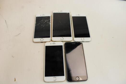 Apple IPhone Lot, 5 Pieces, Sold For Parts