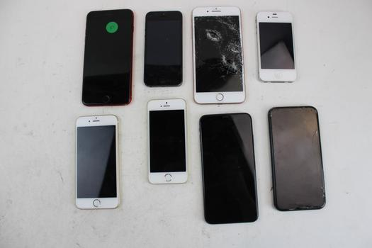 Apple IPhone Lot,8  Pieces  Sold For Parts