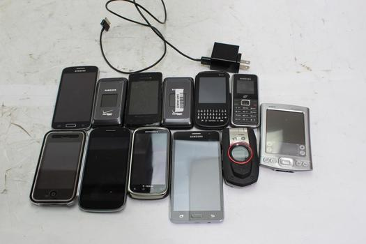 Apple, Samsung And More Cell Phone Lot, 12 Pieces, Sold For Parts