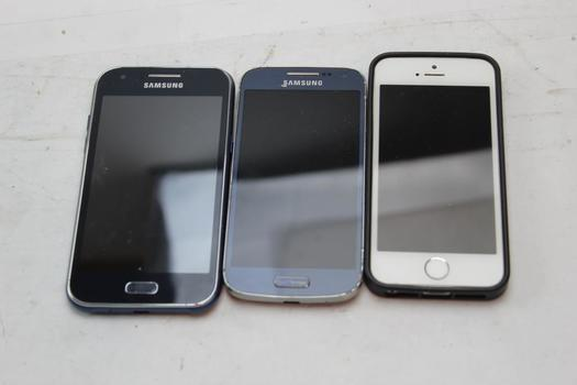 Apple, Samsung Cell Phone Lot,  3 Pieces, Sold For Parts