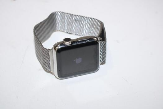 Apple Watch 1st Gen, 38mm Stainless Steel Case, Milanese Loop Band - Sold For Parts