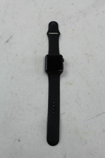 Apple Watch Series 1, 42mm Aluminum, Black Sports Band (Size M/L) - Activation Locked Sold For Parts
