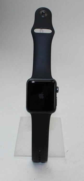 Apple Watch Series 2 (GPS), 42mm Aluminum Case, Black Sports Band (Size M/L) - Activation Locked Sold For Parts