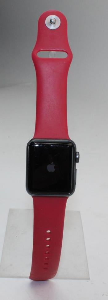 Apple Watch Series 3 (GPS), 38mm Aluminum Case, Red Sports Band (Size S/M) - Activation Locked Sold For Parts