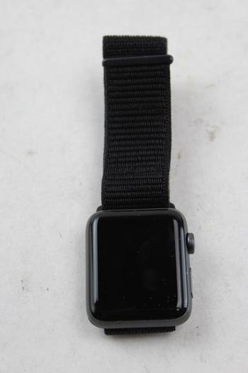 Apple Watch Series 3 (GPS), 42mm Aluminum, Black Woven Nylon Band - Activation Locked Sold For Parts