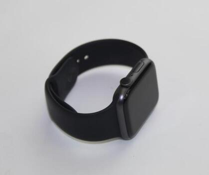 Apple Watch Series 4 (GPS), 44mm Aluminum Case, Black Sports Band (Size M/L)