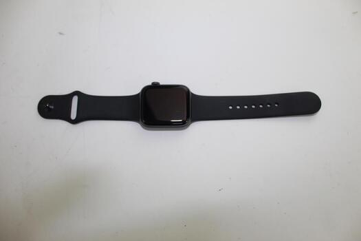 Apple Watch Series 4 (GPS), 44mm Aluminum Case, Space Gray Sports Band (Size S/M) - Activation Locked Sold For Parts