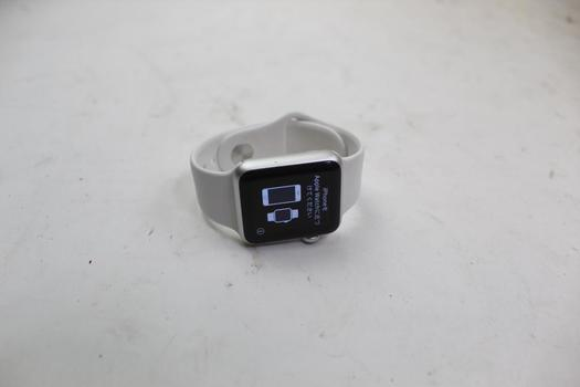 Apple Watch Sport 7000 Series, 38mm Aluminum, White Sports Band (Size S/M)